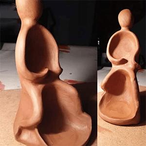 Sculpture terre cuite réalisée par Artcor