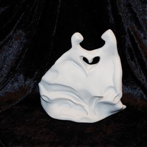 Sculpture en argile blanche réalisée par Artcor