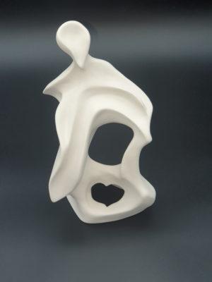 Lumière, sculpture argile réalisé par Artcor