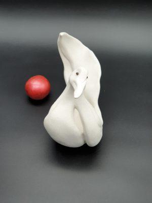 """Sculpture oiseau """"le Cygne"""" réalisé par Artcor Sculptures"""