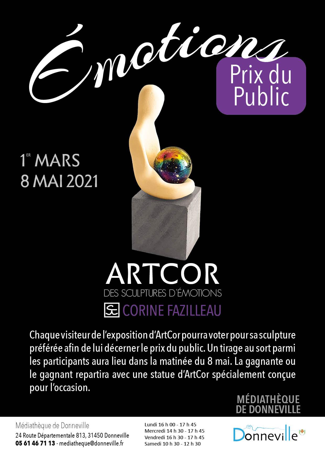 """Exposition """"Émotions"""" @ Médiathèque de Donneville"""